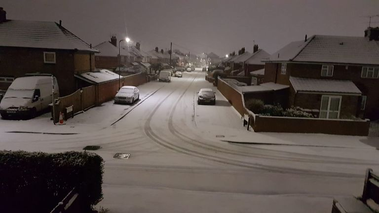 This early morning shot in Slough was captured at 3.4am on Friday