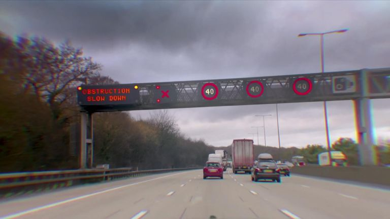 Many motorists are accused of ignoring the warning signs above lanes