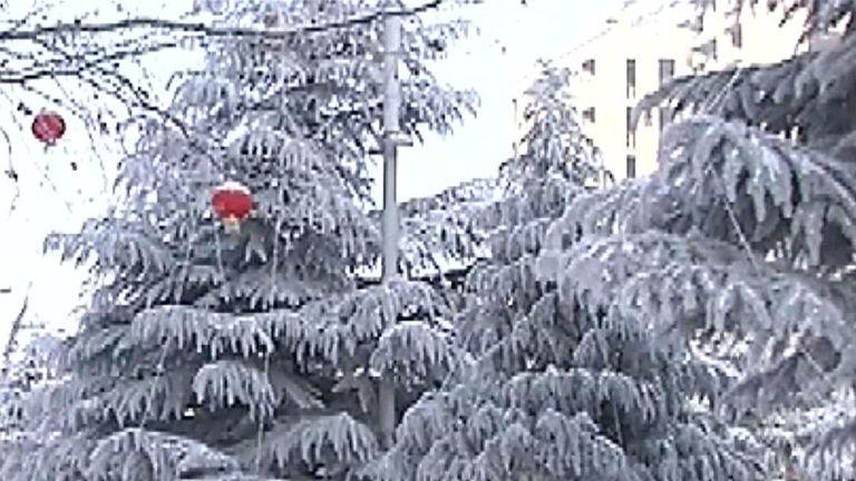 China's Gaoping City is a winter wonderland