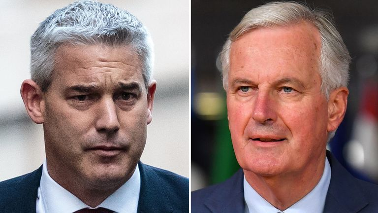 Stephen Barclay and Michel Barnier