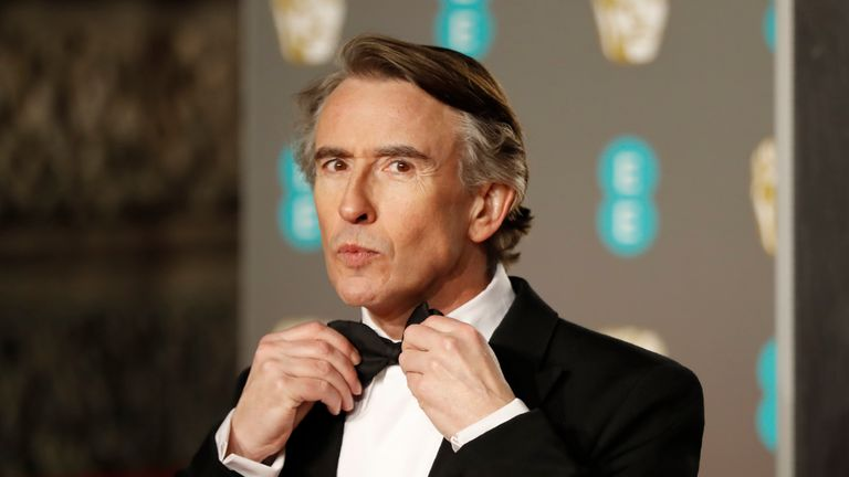Steve Coogan at the 2019 BAFTA awards