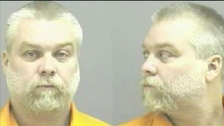 Steven Avery is currently serving a life sentence for the murder of Theresa Halbach. Pic: Manitowoc County Sheriff's Department.