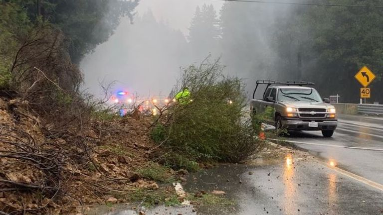 People have been evacuated after fears of mudslides