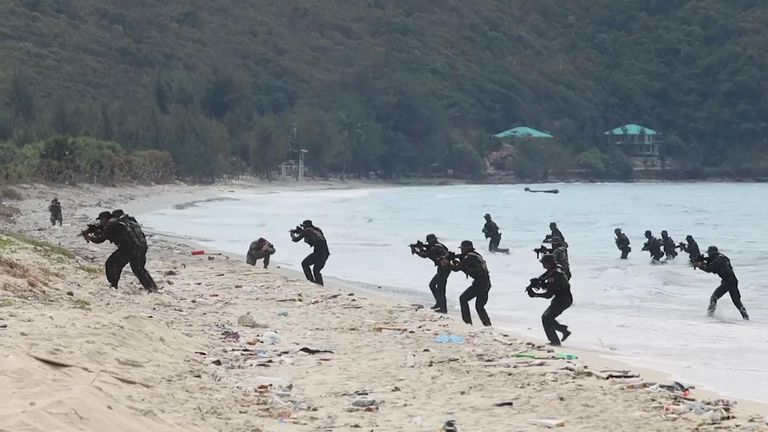 The annual Cobra Gold military exercises were held off the coast of Thailand on Saturday.