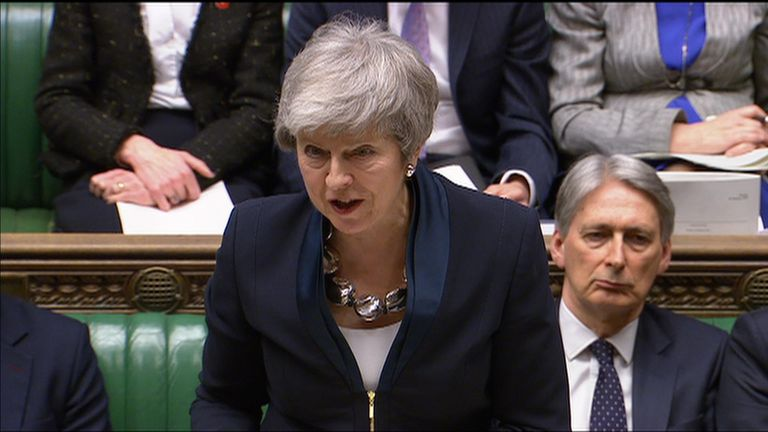 Theresa May addressed the Commons on Tuesday