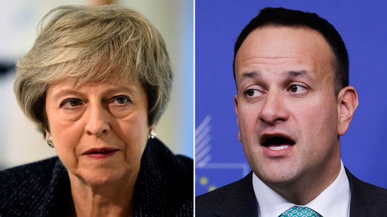 Mrs May will be hoping to come to an agreement with Mr Varadkar over dinner in Dublin