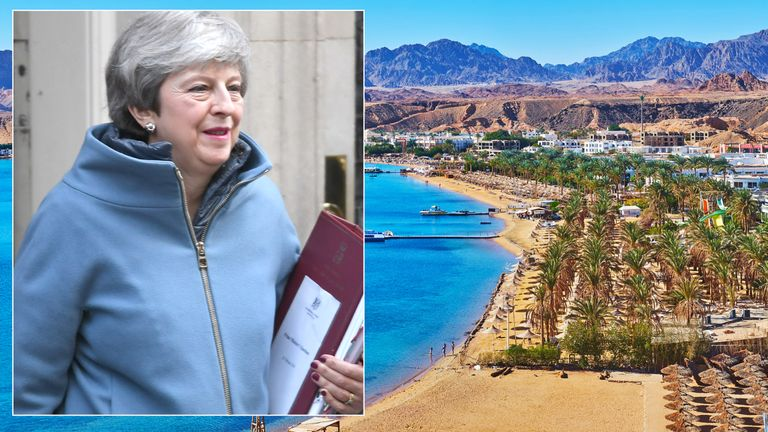 Theresa May is heading to a summit of EU leaders in Sharm-el-Sheikh