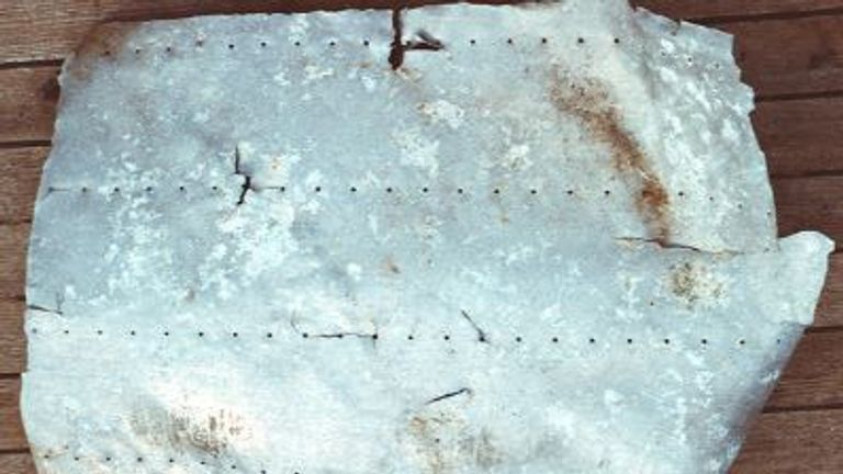 Is this aluminium panel, found in 1991, from Amelia Earhart's plane? Pic: TIGHAR