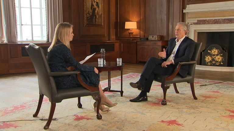 Sophy Ridge and Tony Blair