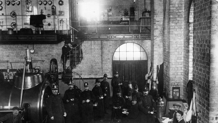 Police officers deployed to Tonypandy during the miners' strike of 1910