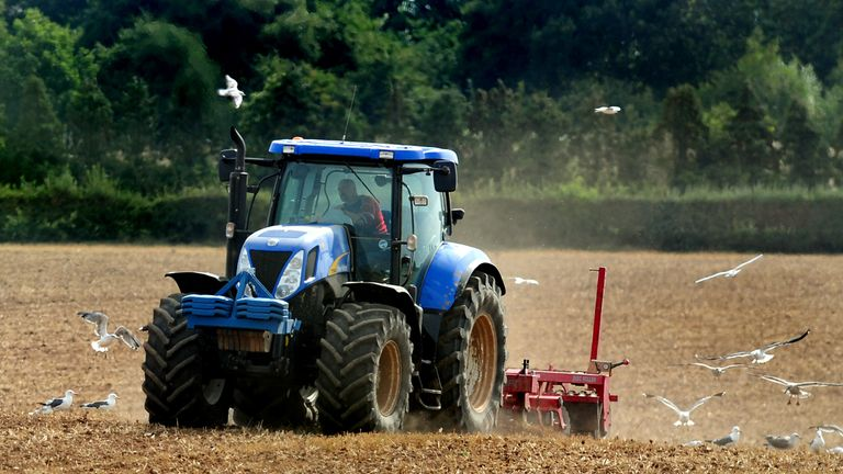 "File photo dated 01/09/13 of a of tractor ploughing a field in Leicestershire, as British farmers and growers should remain the ""number one supplier of choice"" to UK consumers after Brexit, farming leaders have urged."