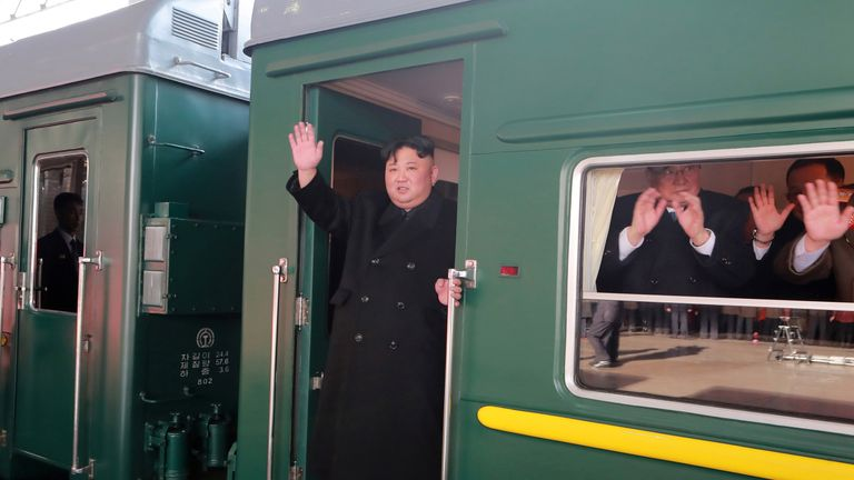 Kim Jong Un is travelling to Hanoi by train
