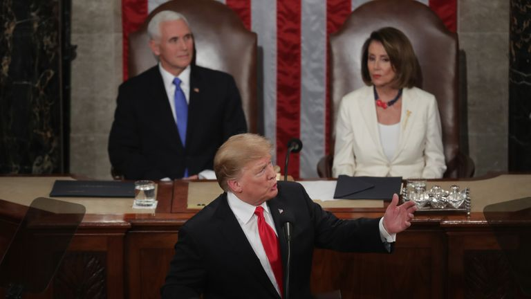 Border wall and second Trump-Kim summit dominate State of the Union