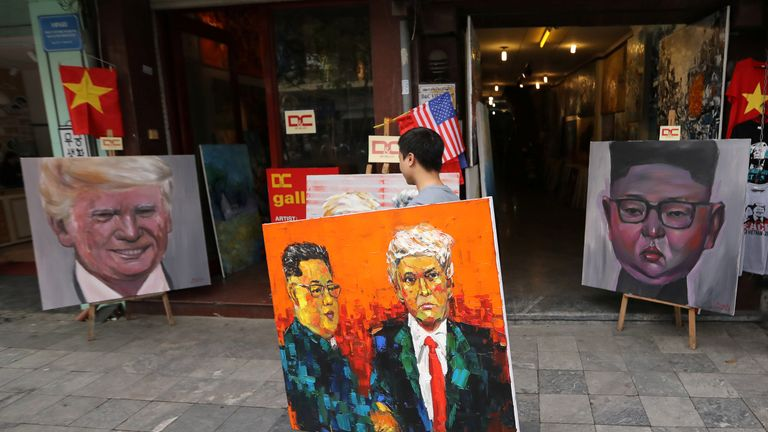 Artists have been busy in preparation for the Hanoi summit