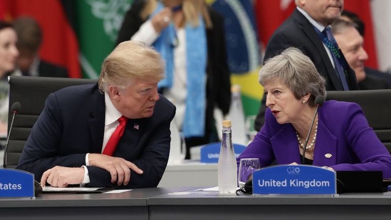Donald Trump is going to visit Theresa May in December