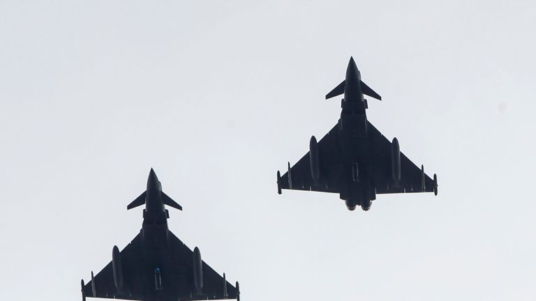 Typhoons seen from Endcliffe Park during the flypast