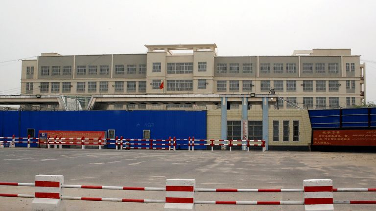 A vocational skills education centre in Hotan in Xinjiang, China