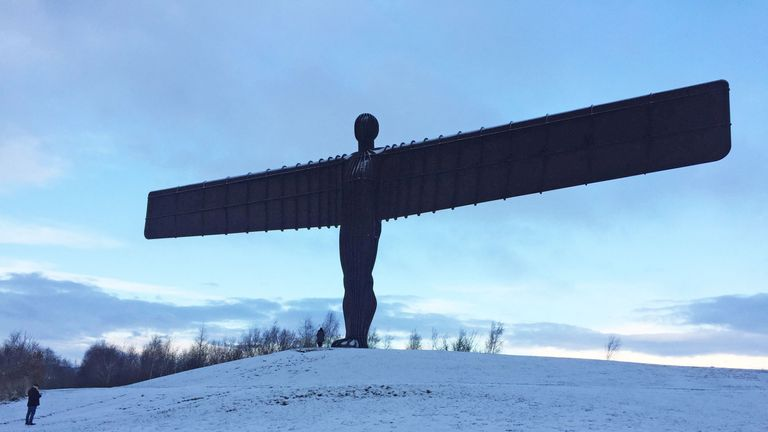 The Angel of the North sculpture in Gateshead