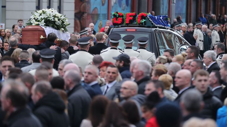 Ian Ogle: Thousands mourn 'brutally murdered' Belfast father-of-two