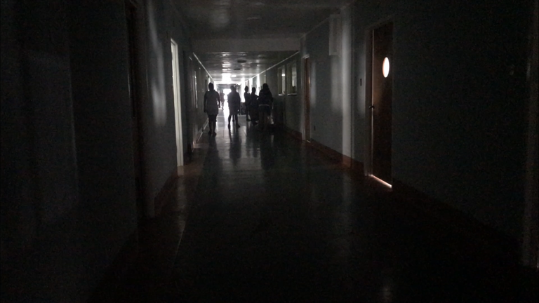 The paediatric ward has no electricity for lights