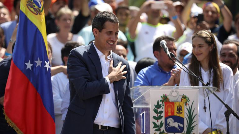 The US and EU have already recognised the leadership of Juan Guaido, who is trying to oust Mr Maduro