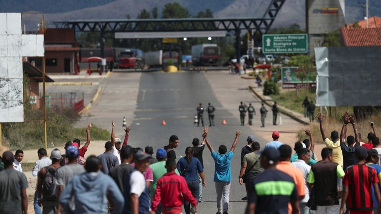 President Nicolas Maduro ordered the border to be closed