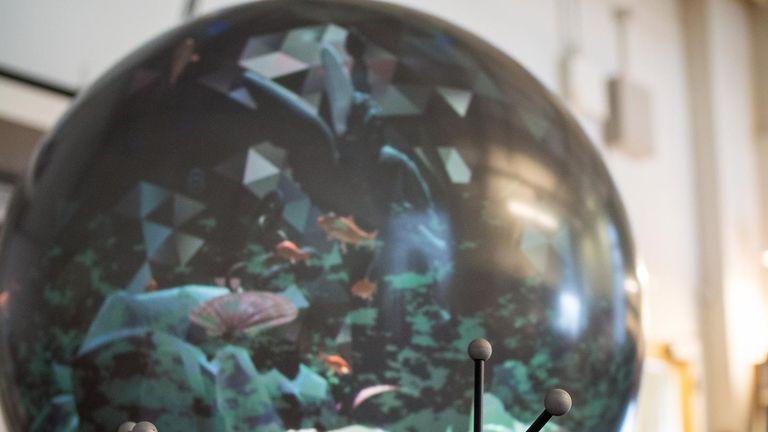 Virtual reality spherical display. Pic: Clare Kiernan, UBC