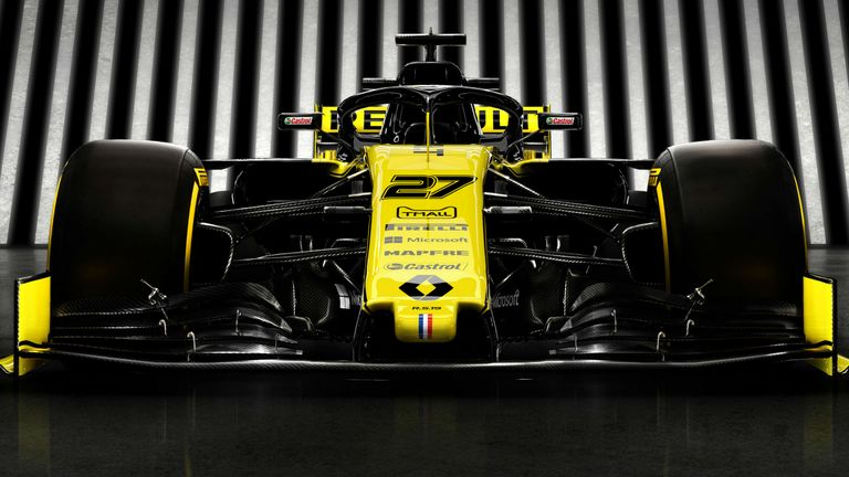 0:27                                               Renault unveil their new look and livery for the 2019 F1 season
