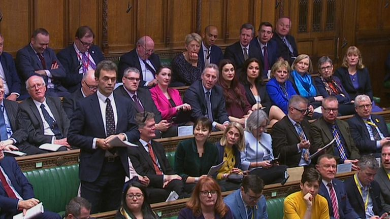 The independent group of MPs in the Commons for PMQs