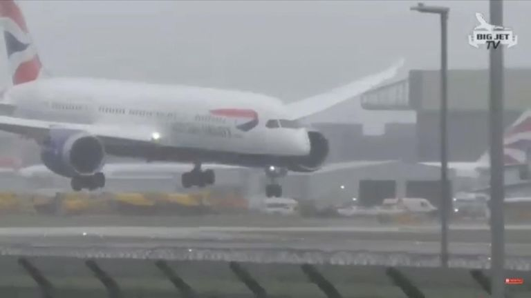 The BA jet was forced to