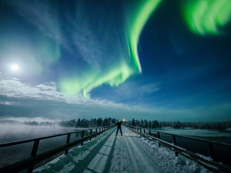 Northern Lights Dance In Lapland Sky