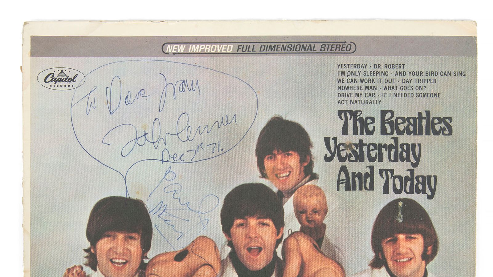 Rare Beatles album once owned by John Lennon to be auctioned