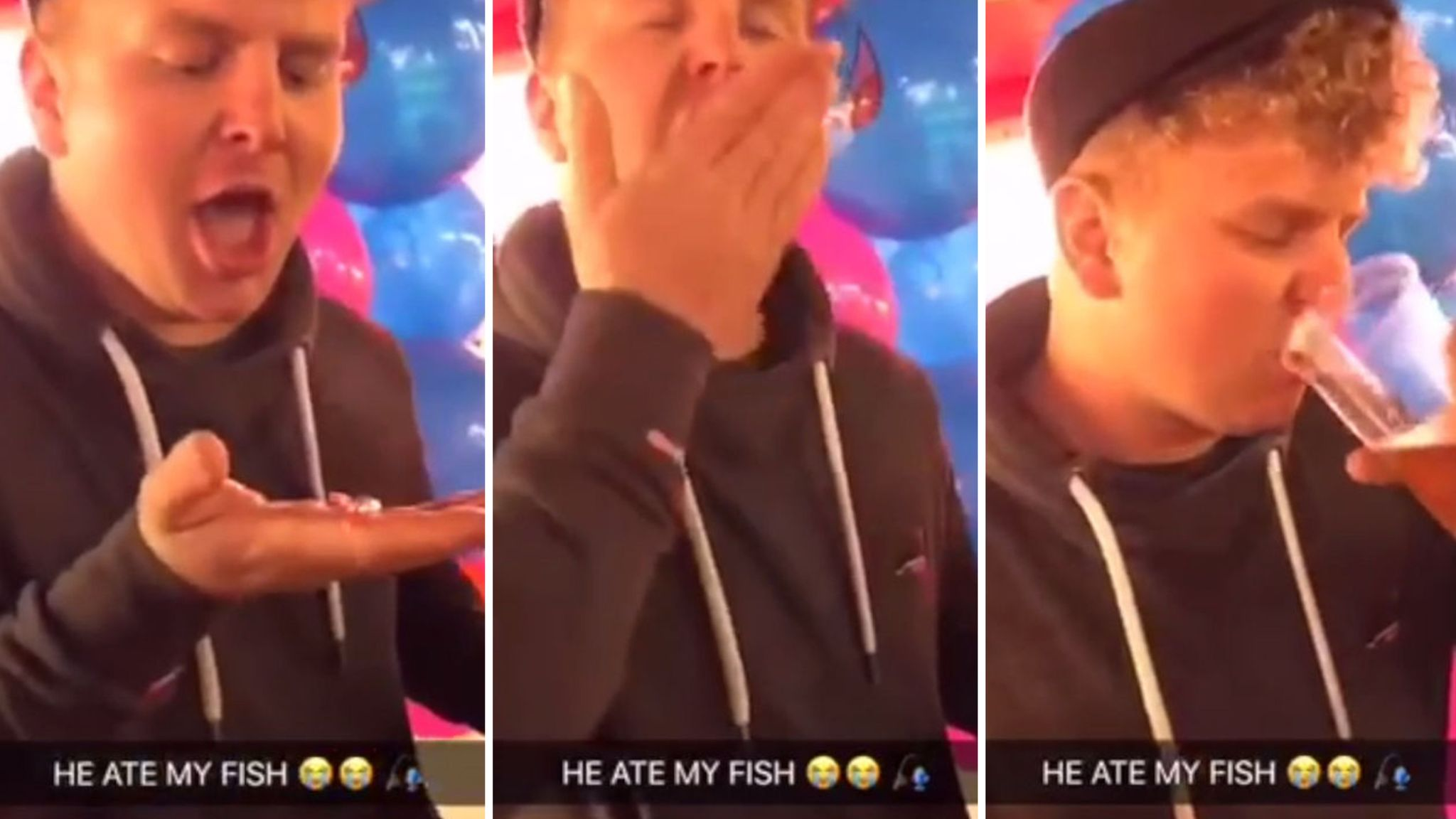 sky.com - Man fined £385 after swallowing live goldfish in clip posted on Snapchat