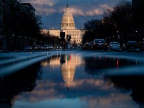 The sun sets on the US Capitol on March 22, 2019 in Washington, DC, shortly after the announcement that Special Counsel Robert Mueller had wrapped up his two-year investigation of Russian meddling in the 2016 US election