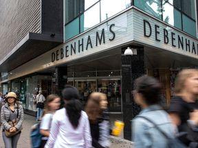 The Debenhams store on London's Oxford Street
