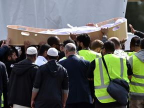 The funeral of Khalid Mustafa  and his son Hamza Mustafa