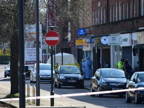 Police were called to Marsh Road in Pinner, northwest London