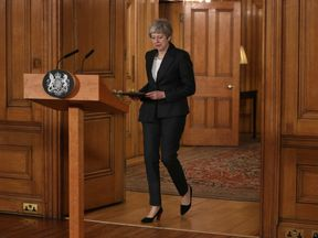 Theresa May prepares t address the nation