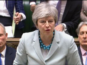 Theresa May in the Commons on 25 March