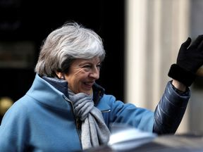 Britain's Prime Minister Theresa May is seen outside Downing Street