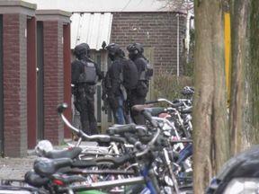 Armed police in Utrecht