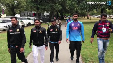 Bangladesh players walk to safety