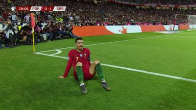 Ronaldo goes off injured