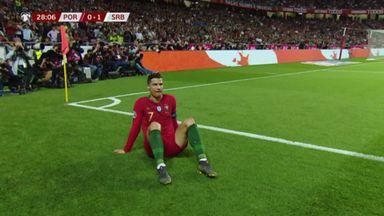 Ronaldo goes off injured