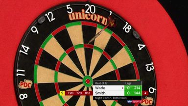 Smith's near 9-darter!