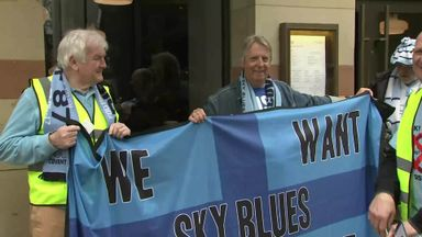 Coventry fans stage protest