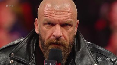 Triple H puts career on the line
