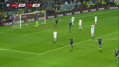 Pjanic's clever free-kick for Bosnia
