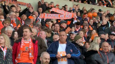 Blackpool fans' emotional return