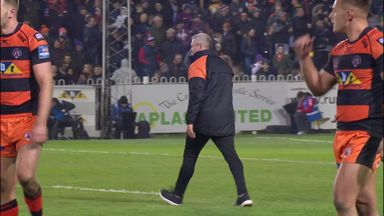 Furious Powell walks on pitch mid-game!